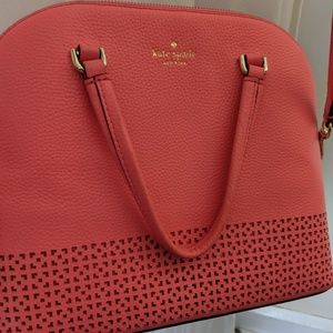 Kate Spade Coral Pink Leather Crossbody Bag